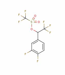 trifluoromethanesulfonic acid 1-(3,4-difluorophenyl)-2,2,2-trifluoroethyl ester