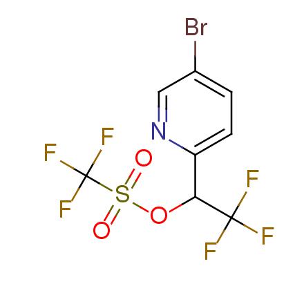trifluoro-methanesulfonic acid 1-(5-bromo-pyridin-2-yl)-2,2,2-trifluoro-ethyl ester
