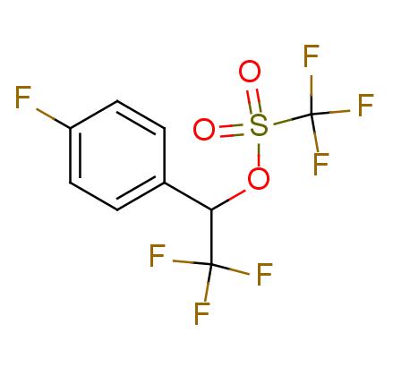 Methanesulfonic acid, trifluoro-, 2,2,2-trifluoro-1-(4-fluorophenyl)ethylester